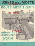 Dépliant Publicitaire  6 Pages  - ST DIZIER (Haute Marne)  Usines De La MOTTE - Roues Métalliques - Chariots - Transports