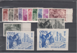 BELGIUM MNH** COB 556/67 & 567A/B ORVAL - Belgique