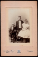 GRANDE PHOTO ANONYME Charmants Enfants MARINS - ROBE FILLE MODE NAPOLEON III - CABINET RUYS MOREL A TOURNAI ( BELGIQUE ) - Photos