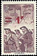 France - N°  489 * Métier - Mineur - Surchargé 1fr - Nuovi