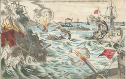 MILITARIA - La Flotte Anglaise Coule 3 Croiseurs Allemands Dans La Baie D'HELIGOLAND (28 Aout) - Guerra 1914-18