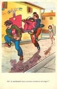 Ref N711 -illustrateur -humour -transports - Scooters - Scooter Et Voleurs  -carte Bon Etat - - Cartes Postales