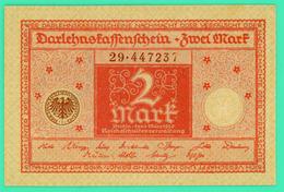 2 Mark - Allemagne - 1 Mars 1920 - N° 29-447237 - TTB+ - - Zwischenscheine - Schatzanweisungen
