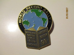 MAINLAND MOTOR CYCLE CLUB WORLD RECORD RALLY   PIN BADGE , 0 - Transportation