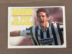Cartolina In Bianco In Carta Leggera Di Roberto Baggio Della Juventus - Fútbol