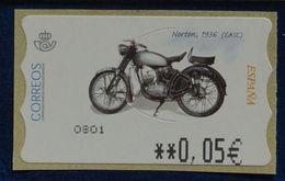 España 2003. ATM. Motocicleta Norton. MNH. **. - Poststempel - Freistempel