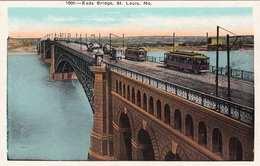 ST.LOUIS (Mo.) - Eads Bridge The Foot Of Washington Ave., Strassenbahnen, 193? - Etats-Unis