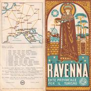 """05215 """"RAVENNA ENTE PROVINCIALE PER IL TURISMO-PIANTA CITTA' E MONUMENTI - 1949"""" - Dépliants Turistici"""