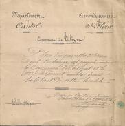 15 - TALIZAT - Plan Des Parcelles De Terrain - 1874 - Other Plans