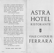 "05217 ""FERRARA - ASTRA HOTEL-RISTORANTE"" - Dépliants Turistici"