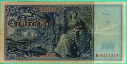 100 Mark - Allemagne - 21 Avril 1910 - Berlin -  TB+ - N° E.9215518 - - 100 Mark