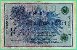 100 Mark - Allemagne - 2 Février 1908   - Berlin -  TB+ - N° 7990036F - - 100 Mark