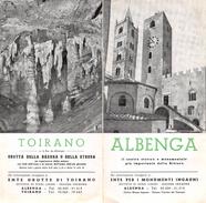 """05221 """"ALBENGA-ENTE PER I MONUMENTI INGAUNI - TOIRANO-GROTTA DELLA BASURA O DELLA STREGA-ENTE GROTTE DI TOIRANO"""" - Dépliants Turistici"""