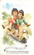 Ref N693 -illustrateur Enfants - Transports - Le Scooter -theme Scooters   - Carte Bon Etat - - Cartes Postales