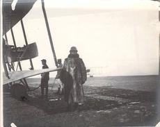 Photo Ancienne Originale Avion Biplan Biplace Bombardement Bombes Aviation De Guerre  1914 1918 Ww1 Grande Guerre - Guerra, Militari