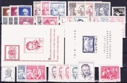 * Tchécoslovaquie 1948 Mi 529-61 + Bl.10-11 (Yv 457-86+BF 12-13), (MH), Trace De Charniere Propre - Czechoslovakia