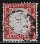 1862, 40 C. Used, Mi. 140.- , #6859 - 1861-78 Vittorio Emanuele II