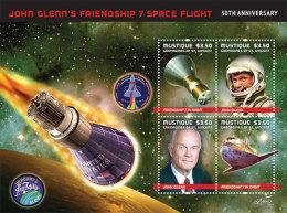 MUSTIQUE Of ST.VINCENT ; SCOTT # ; IGPC 1207 SH ; MINT N H STAMPS (  SPACE ; JOHN GLENN - St.Vincent & Grenadines