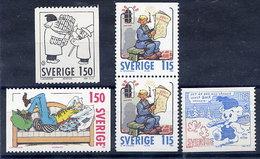 SWEDEN 1980 Comic Characters. MNH / **.  Michel 1124-27 - Sweden