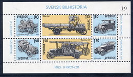SWEDEN 1980 History Of Automobiles Block MNH / **.  Michel Block 8 - Sweden