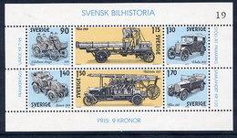 SWEDEN 1980 History Of Automobiles Block MNH / **.  Michel Block 8 - Blocks & Sheetlets
