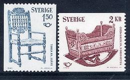 SWEDEN 1980 Handicrafts  MNH / **.  Michel 1115-16 - Sweden