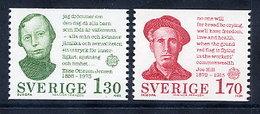 SWEDEN 1980 Europa: Personalities  MNH / **.  Michel 1106-07 - Sweden