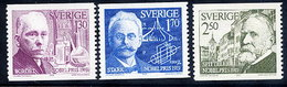 SWEDEN 1979 Nobel Prizewinners  MNH / **.  Michel 1093-95 - Sweden