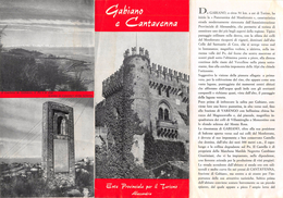 """05224 """"GABIANO E CANTAVENNA - ENTE PROVINCIALE PER IL TURISMO DI ALESSANDRIA"""" - Dépliants Turistici"""