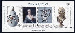 SWEDEN 1979 Swedish Rococo Block  MNH / **.  Michel Block 7 - Blocs-feuillets