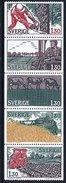 SWEDEN 1979 Agriculture Set In Strip  MNH / **.  Michel 1060-64 - Sweden