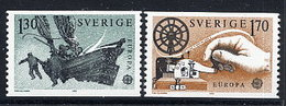 SWEDEN 1979 Europa: Post And Telecommunications MNH / **.  Michel 1058-59 - Sweden