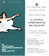 """05226 """"IX FESTIVAL INTERNAZIONALE DEL BALLETTO - ENTE MANIFESTAZIONI GENOVESI-TEATRO DEI PARCHI DI NERVI 1968"""" - Dépliants Turistici"""