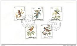 SAN MARINO - 1972 - Serietta - Uccelli - Busta Non Viaggiata