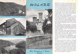 """05227 """"MOLARE - ENTE PROVINCIALE PER IL TURISMO ALESSANDRIA 1962"""" - Dépliants Turistici"""