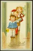 Fantaisie Joyeux Noël Enfants Cadeaux Signée Mauzan - Natale