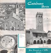 """05229 """"CASTELNUOVO SCRIVIA - ENTE PROVINCIALE PER IL TURISMO ALESSANDRIA"""" - Dépliants Turistici"""