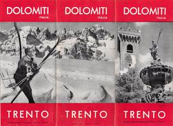"05231 ""DOLOMITI - TRENTO - EDIS. AZ. AUTON. TURISMO - FOTO F.LLI PEDROTTI - 1956"" - Dépliants Turistici"