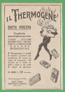 Salute Ovatta Rivulsiva Thermogène Dolori Tosse Reumatismi 1923 - Salute E Bellezza