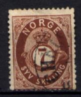 Norvegia 1872 Unif.21 O/Used VF/F - Oblitérés