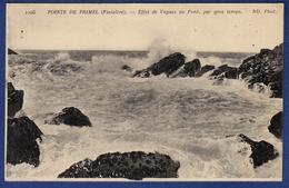 29 PRIMEL Pointe, Effet De Vagues Au Pont, Par Gros Temps - Primel