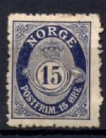 Norvegia 1909Unif.76 */MH VF/F - Unused Stamps