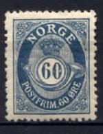 Norvegia 1909 Unif.83 */MH VF/F - Unused Stamps
