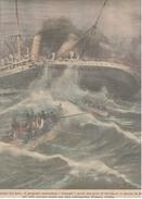 Navi Ships Liverpool Naufragio Pioscafo Armagh 1923 Illustratore Beltrame - Altri