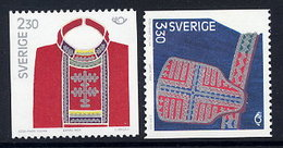 SWEDEN 1989 Traditional Costumes MNH / **.  Michel 1537-38 - Unused Stamps