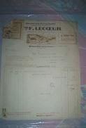 Facture BEAULIEU PRES LOCHE 36 Indre Et Loire Chaussures VEUVE F. LECOEUR Belle Entête - Textile & Vestimentaire