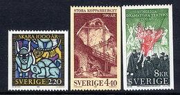 SWEDEN 1988 Anniversaries MNH / **.  Michel 1492-94 - Unused Stamps