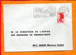 """ALPES-MMES, Beaulieu Sur Mer, Flamme SCOTEM N°5901, """" Son Port De Plaisance, Ses Plages Son Casino En Toutes Saisons"""" - Sellados Mecánicos (Publicitario)"""