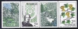 SWEDEN 1987 Botanic Gardens MNH / **.  Michel 1453-56 - Unused Stamps