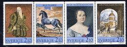 SWEDEN 1987 Gripsholm Castle Art MNH / **.  Michel 1446-49 - Unused Stamps